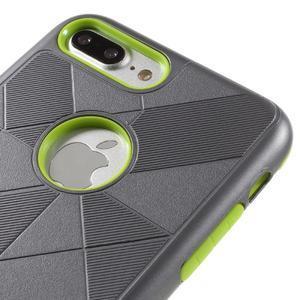 Armory odolný obal pre mobil iPhone 8 Plus a iPhone 7 Plus - sivý/zelený - 3