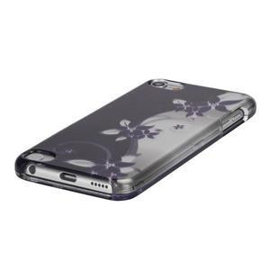 Safety plastové puzdro 2v1 na iPod Touch 5 - fialové kvety - 3