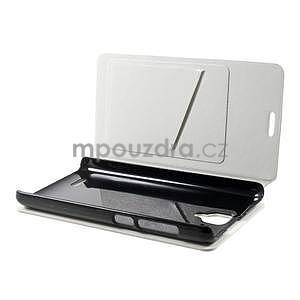 Peňaženkové kožené puzdro na Lenovo A536 - biele - 3