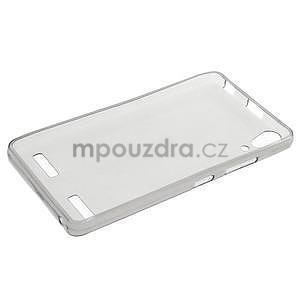Gélový slim obal na Lenovo A6000 - šedé - 3