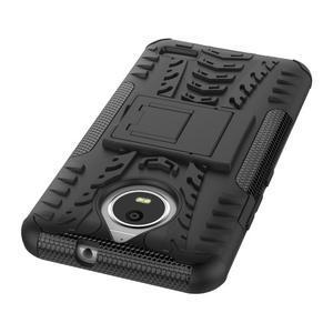 Outdoor odolný obal zo stojanom pre Lenovo Moto E4 - čierny - 3