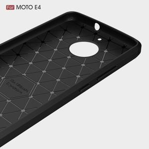 Carbon odolný obal pre Lenovo Moto E4 - tmavomodrý - 3