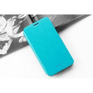 PU kožené puzdro na Lenovo Vibe Shot - modré - 3