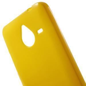 Žltý gélový obal pre Microsoft Lumia 640 XL - 3