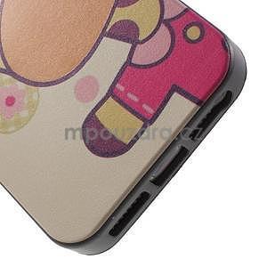 Gélové puzdro na iPhone 5 a 5s - kravička - 3