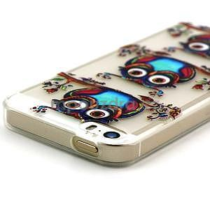 Fun gélový obal na iPhone 5s a iPhone 5 - sova - 3