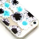 Fun gélový obal pre iPhone 5s a iPhone 5 - kvety - 3/4