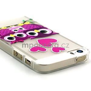 Fun gélový obal na iPhone 5s a iPhone 5 - soví rodinka - 3