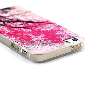 Fun gélový obal na iPhone 5s a iPhone 5 - čerešňa - 3