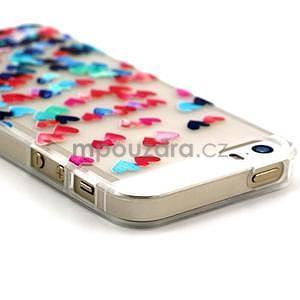 Fun gélový obal na iPhone 5s a iPhone 5 - srdiečka - 3