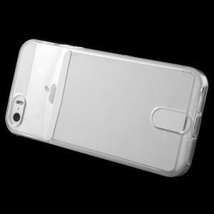 Ultra tenký obal s vreckom pre iPhone 5 a 5s - transparentný - 3