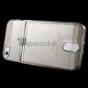 Ultra tenký obal s vreckom pre iPhone 5 a 5s - šedý - 3