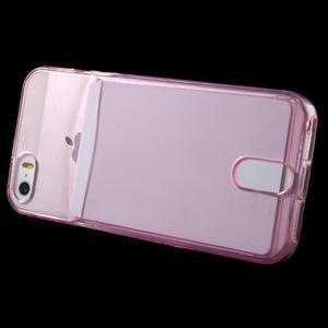 Ultra tenký obal s vreckom pre iPhone 5 a 5s - rose - 3