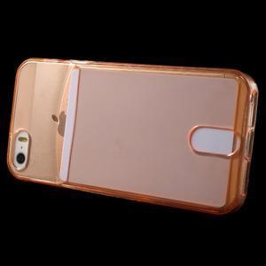 Ultra tenký obal s vreckom pre iPhone 5 a 5s - oranžový - 3
