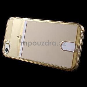 Ultra tenký obal s vreckom pre iPhone 5 a 5s - champagne - 3