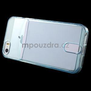 Ultra tenký obal s vreckom pre iPhone 5 a 5s - modrý - 3