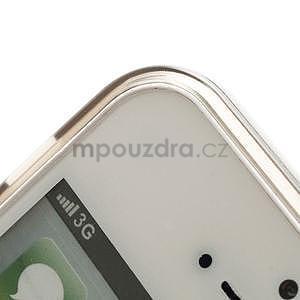 Gélový transparentný obal na iPhone 5 a 5s - šedý - 3
