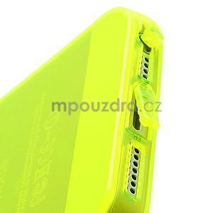 Gélový transparentný obal na iPhone 5 a 5s - žiarivo žltý - 3