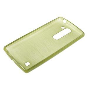 Brush gélový kryt pre LG G4c H525N - zelený - 3