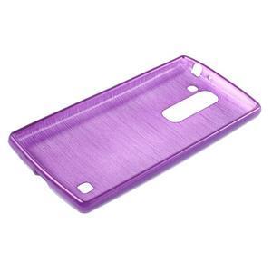 Brush gélový kryt pre LG G4c H525N - fialový - 3