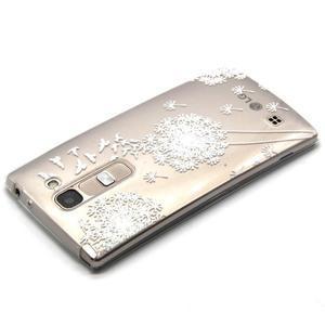Priehľadný gélový obal na LG G4c - biela púpava - 3