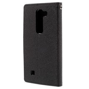 Diary PU kožené puzdro na LG G4c- čierne - 3