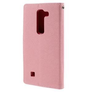 Diary PU kožené puzdro pre LG G4c- ružové - 3