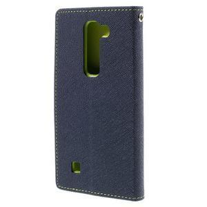 Diary PU kožené puzdro na LG G4c- tmavomodré - 3