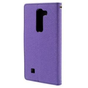 Diary PU kožené puzdro na LG G4c -fialové - 3