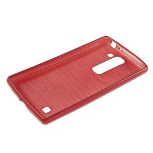 Brush gélový kryt na LG G4c H525N - červený - 3