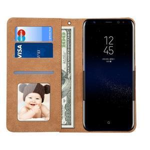 Croco PU kožené univerzálne puzdro na mobily do rozmeru 15,7 x 8 x1,8 cm - čierne - 3