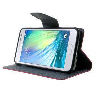 Diary PU kožené puzdro pre Samsung Galaxy A3 - rose - 3