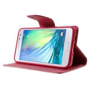 Diary PU kožené puzdro na Samsung Galaxy A3 - ružové - 3