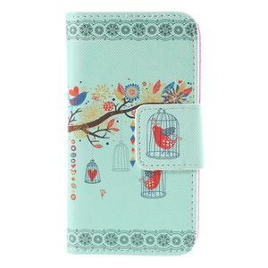 Puzdro na mobil Samsung Galaxy A3 - vtáčik v klitke - 3