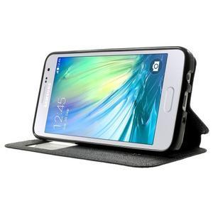 Roar peňaženkové puzdro s okienkom na Samsung Galaxy A3 - čierne - 3