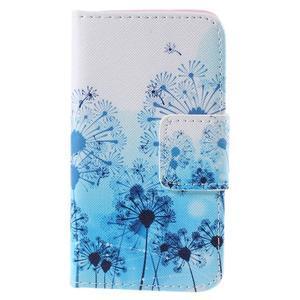 Peňaženkové púzdro na Samsung Galaxy A3 - modré púpavy - 3