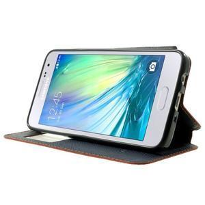 Roar peňaženkové puzdro s okienkom na Samsung Galaxy A3 - oranžové - 3
