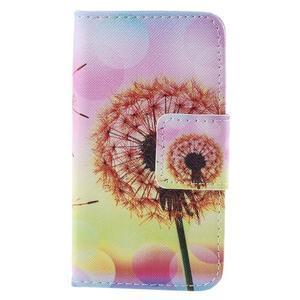 Peňaženkové púzdro na Samsung Galaxy A3 - oranžová púpava - 3