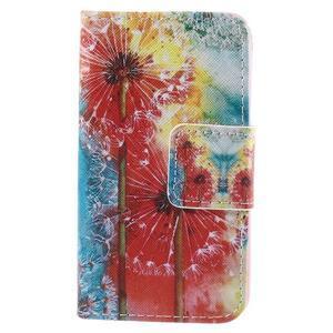 Peňaženkové púzdro na Samsung Galaxy A3 - malované púpavy - 3