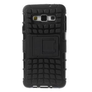 Outdoor odolný kryt na mobil Samsung Galaxy A3 - čierny - 3