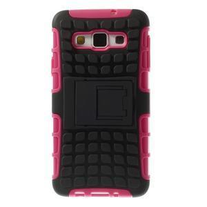 Outdoor odolný kryt pre mobil Samsung Galaxy A3 - rose - 3