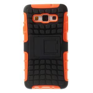 Outdoor odolný kryt pre mobil Samsung Galaxy A3    - oranžový - 3