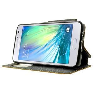 Roar peňaženkové puzdro s okienkom pre Samsung Galaxy A3    - žlté - 3