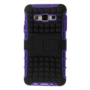 Outdoor odolný kryt na mobil Samsung Galaxy A3 - fialový - 3