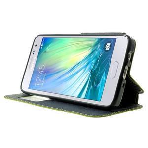 Roar peňaženkové puzdro s okienkom pre Samsung Galaxy A3 - zelené - 3