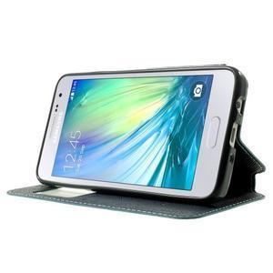 Roar peňaženkové puzdro s okienkom na Samsung Galaxy A3 - svetlomodré - 3