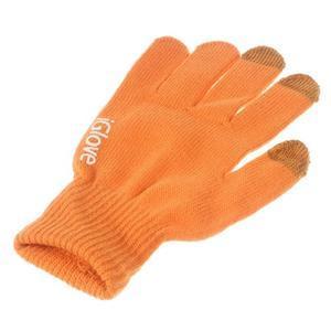 Gloves dotykové rukavice na mobil - oranžové - 3