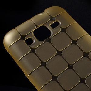 Square matný gélový obal pre Samsung Galaxy Core Prime - champagne - 3
