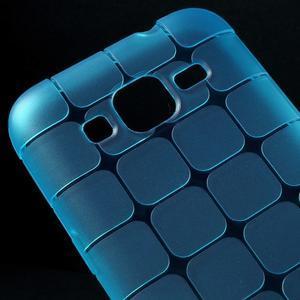 Square matný gelový obal na Samsung Galaxy Core Prime - modrý - 3