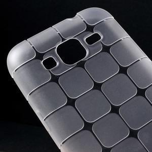 Square matný gélový obal pre Samsung Galaxy Core Prime - transparentný - 3